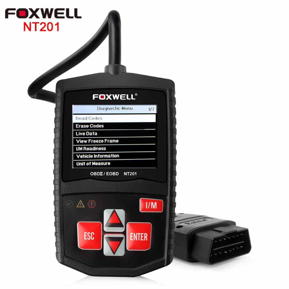 Foxwell NT201 OBD2 Automotive Scanner obdii EOBD CAN Engine Analyzer Auto OBD Code Reader Universal Scan Tools PK AD310 ELM327(China (Mainland))
