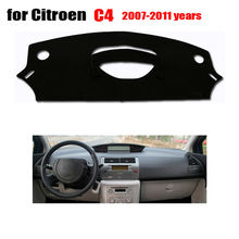 Car dashboard covers mat for Citroen old C4 2007-2011 Left hand drive dashmat pad dash covers Instrument platform accessories(China (Mainland))