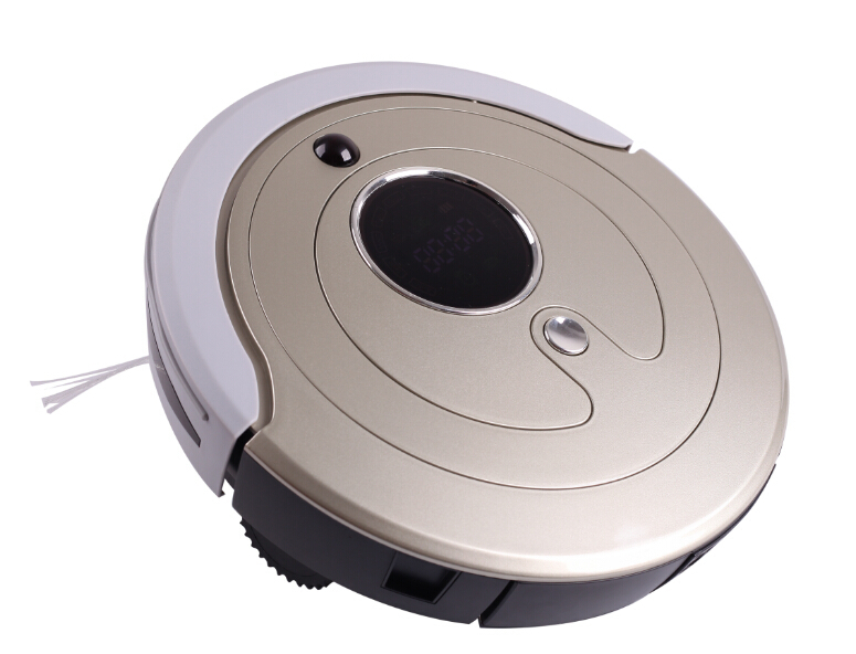 Most Advanced Robot Vacuum Cleaner ,Multifunctional(Sweep,Vacuum,Mop,Sterilize),Touch Screen,Schedule,2 Side Brush,Self Recharge(China (Mainland))