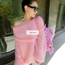 Autumn Winter 2014 New Hot Sale Casual Women Off Shoulder Knitted Sweater Jumper Pullover Winter Women Knitwear B2# 41(China (Mainland))