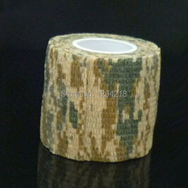 Hot New 1 Roll Outdoor ACU Camouflage Hunting Camping Stealth Waterproof Tape 4 5M 5CM xaFW