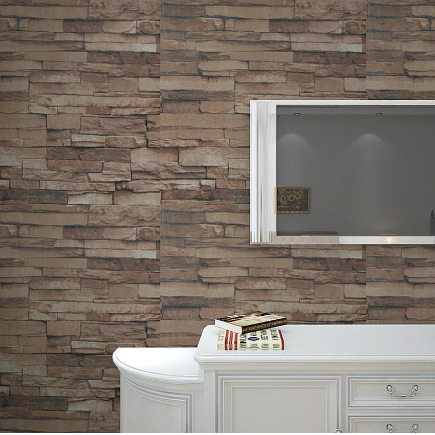 Getextureerde vinyl behang modern 3d reli f bakstenen muur steen patroon behang voor de - Bakstenen muur woonkamer ...