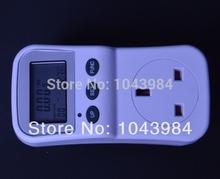 Uk Plug energía eléctrica medidor de ahorro consumo analizador del Monitor con Factor de potencia Display LCD