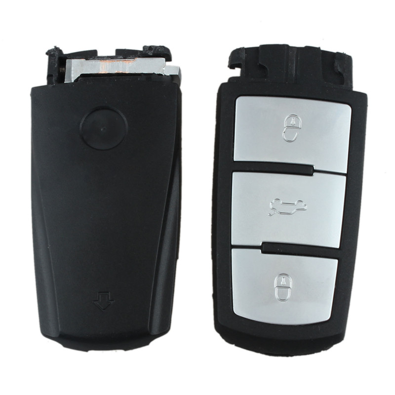 NEW Spare Case Smart Insert 3 Buttons Blank Key Shell For VW Passat B6 CC Magotan(China (Mainland))