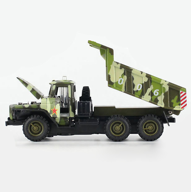 Collectible 1:32 Scale Military Diecast Truck Model & light sound Army Green Alloy Military Dumpers Acousto-optic Toys Model(China (Mainland))