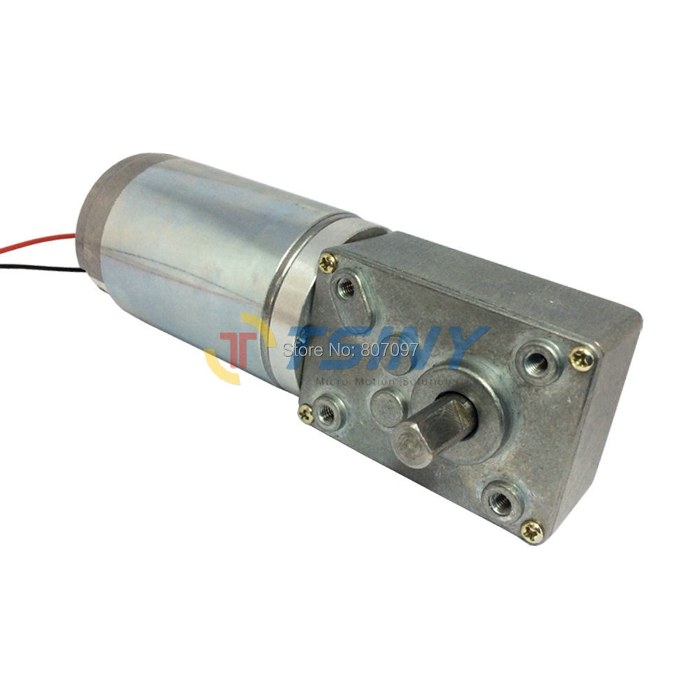 12v 80rpm dc worm gear motor high torque pmdc speed for High torque high speed dc motor