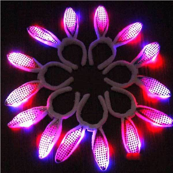 BitBill Cheap LED Paillette Dot Bunny Ears Flashing Head Bands(China (Mainland))