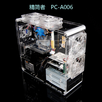Pc-a006 computer case transparent computer case htpc computer case personalized vertical standard atx