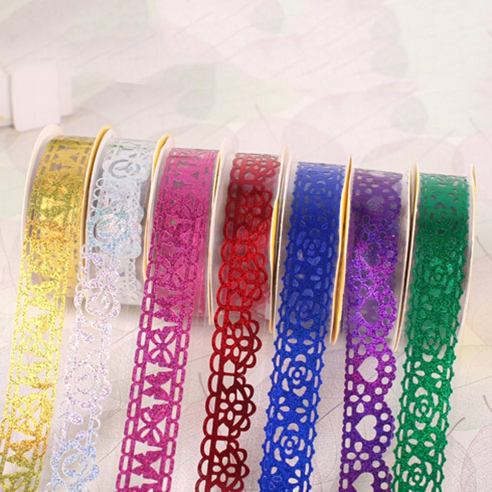 DIY Washi Lace Roll Decorative Sticky Ribbon Self Adhesive Tape Sticker 1 Pc(China (Mainland))