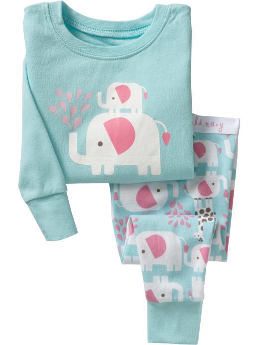 100 cotton baby elephant design pajamas kids long sleeve - Pyjama elephant ...