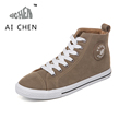 Autumn Winter High Top Canvas Shoes Women Korean Short Plush Flats Lace Up Suede Casual Shoes