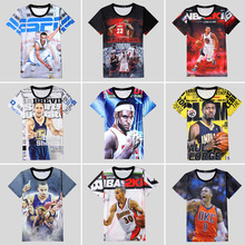 Paul George LeBron James Stephen Curry History 3D Print T-shirt Cotton Unisex Tee Boy Shirts Teen Summer Loose Homme Fans Tops