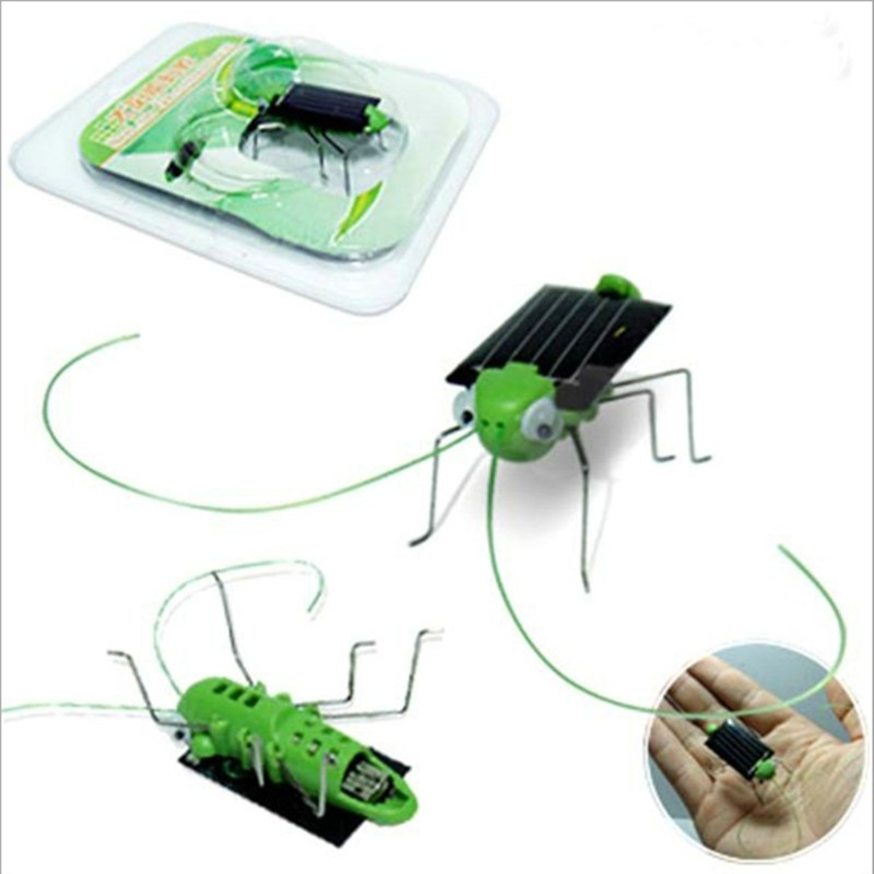 Fantastic!! New Arrival Solar Grasshopper Insect Toy Biological And Technology Teaching Kids Education Toy(China (Mainland))