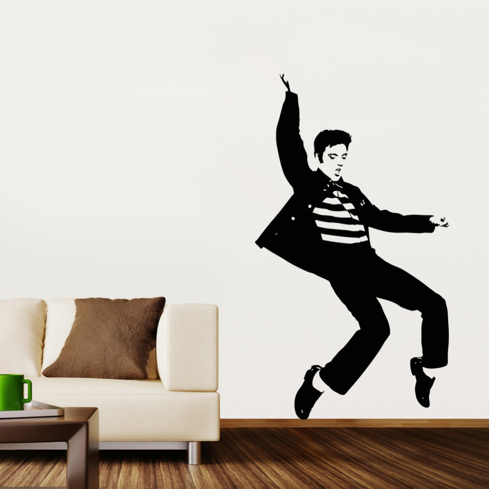 Wall Decals Cool : Cool Dance Pattern Elvis Presley Bedroom Wall Sticker  Decoration Wall . Part 51