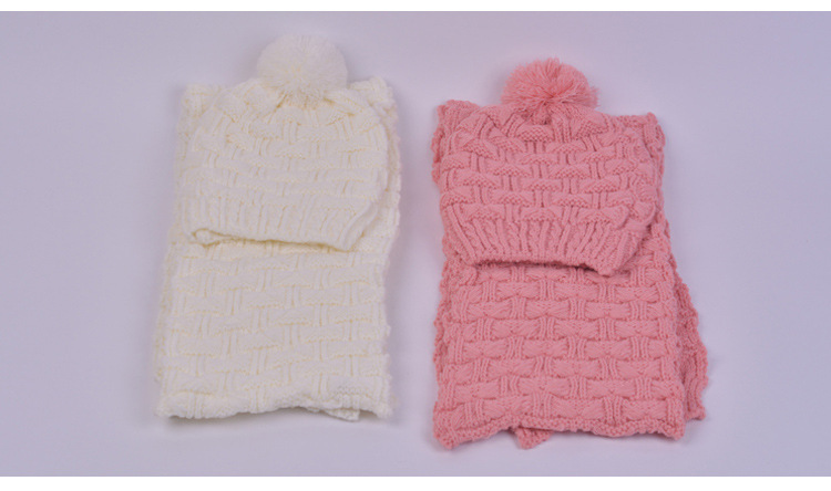 New Ladies Women Knitted Scarf And Hat Suite Set Winter Girl Knitting Scraves Cap warm (No gloves) Integrally warm and Kits