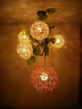 free shopping,5 idyllic combination of rattan lights, so that your home back to nature(China (Mainland))