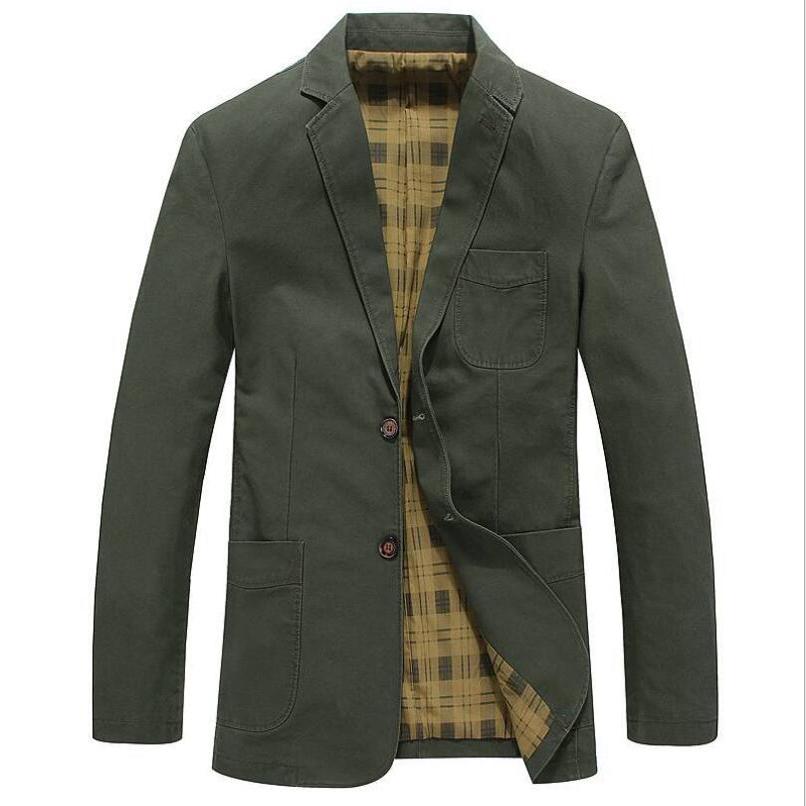 AFS JEEP Plus Asian Size M-4XL Brand Jacket Men 2016 Casual Good Quality Cotton moletom masculino Pockets Army Khaki Jacket Coat(China (Mainland))