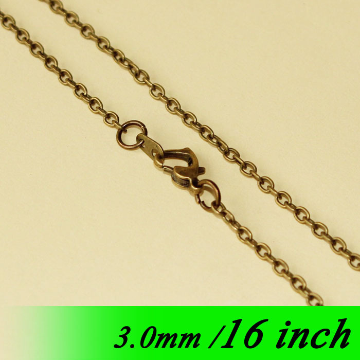 Vintage Bronze Plated 16 Fashion Jewelry Cable Chains With Heart Clasps Connectors For 3mm Necklace Links Pendants Bulk Finding<br><br>Aliexpress