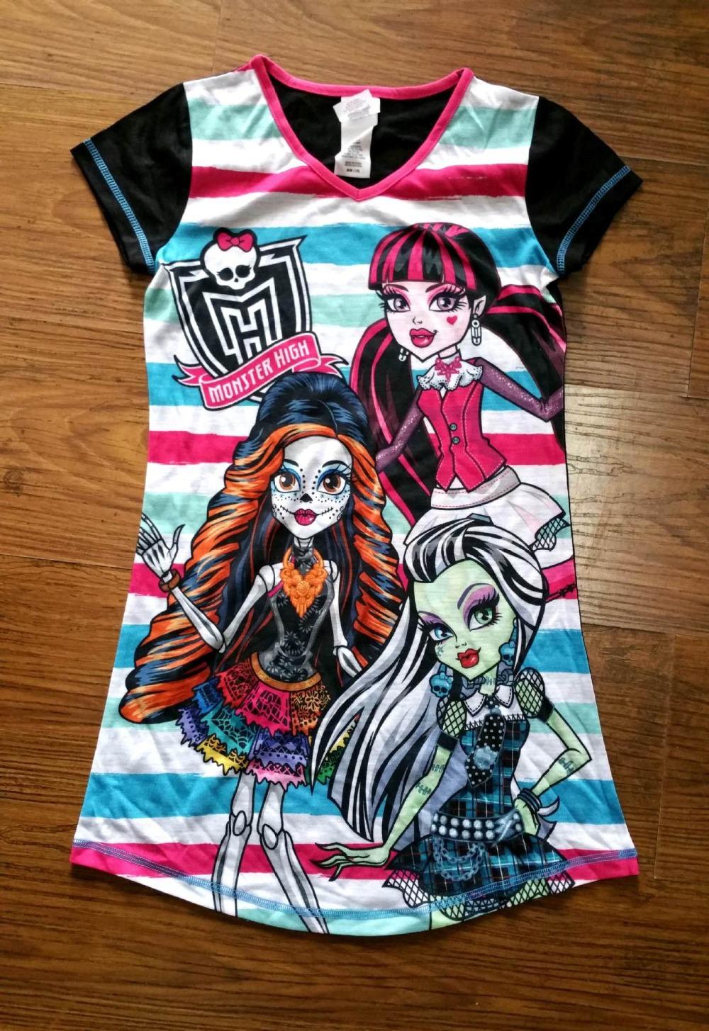 Kids dress,Monster high dress,kids pajamas dress Child Casual Summer dress Top Quality<br><br>Aliexpress