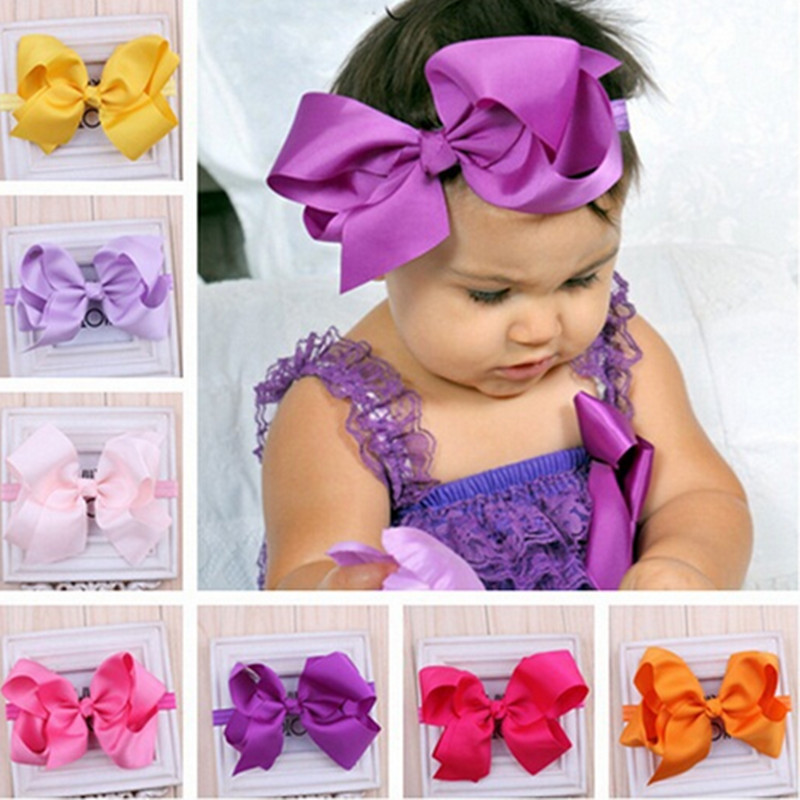 Baby Girl Kids Elastics Hair Head Bands Flower Headband Accessories For Newborns Hair Satin Ribbon Bows Hairband Headwrap Tiaras(China (Mainland))