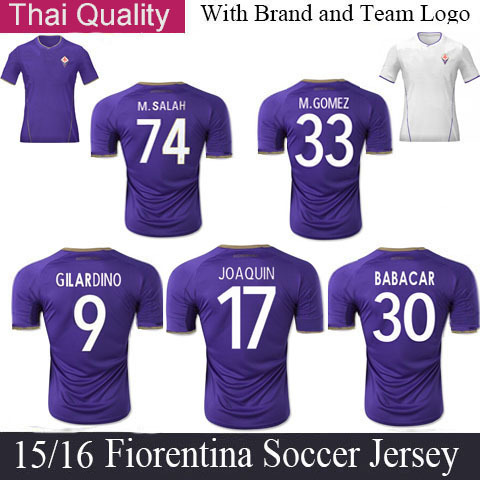 Fiorentina Jersey 2015 Home Purple 15 16 Fiorentina Soccer Jersey Mario Gomez Football Jer