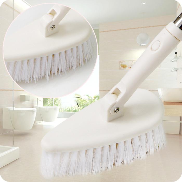 Scalable long-handled brush triangular floor bathroom tile floor cleaning brush toilet cleaning bath brush(China (Mainland))