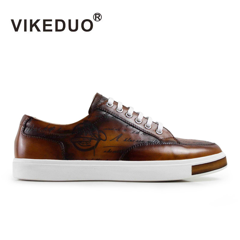 Newest 2016 flat mens shoes laser printing luxury casual shoes 100% Genuine leather Hand painted shoes Second Only To Berluti(China (Mainland))
