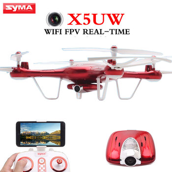 SYMA X5UW Drone 2.4G 4-CH 6-Axis Quadcopter With 2MP FPV WIFI Camera Multifunction RC Helicopter Children toys