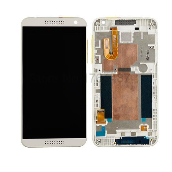 Original Lcd Screen display Touch Screen Digitizer Assembly With Frame For Htc Desire 610 Black / White/ Blue
