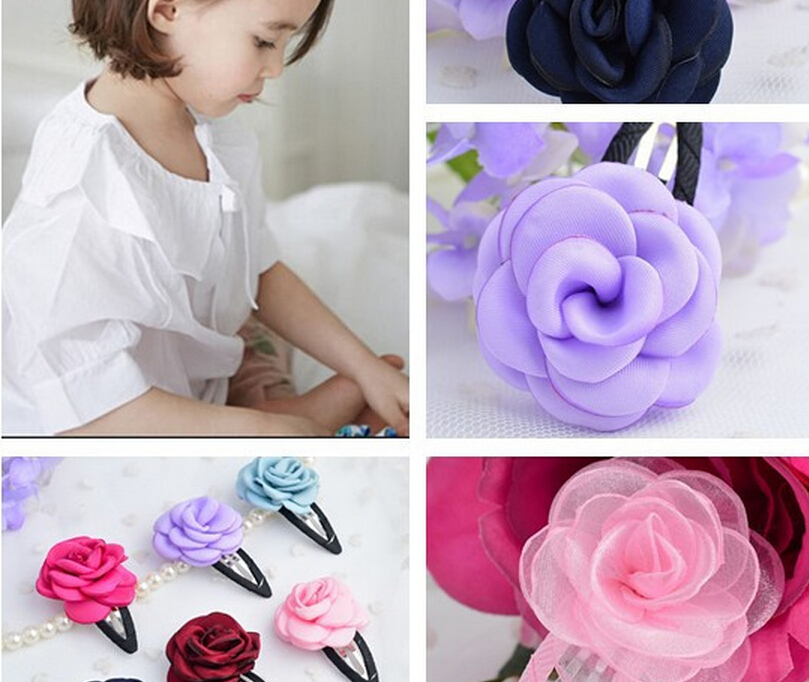 2015 Hot Sale Child Clip Hairclip Flower Baby Girl Headdress Accessories Hair Clips Infant Toddler Kid Girls Hairpin 10Colors(China (Mainland))