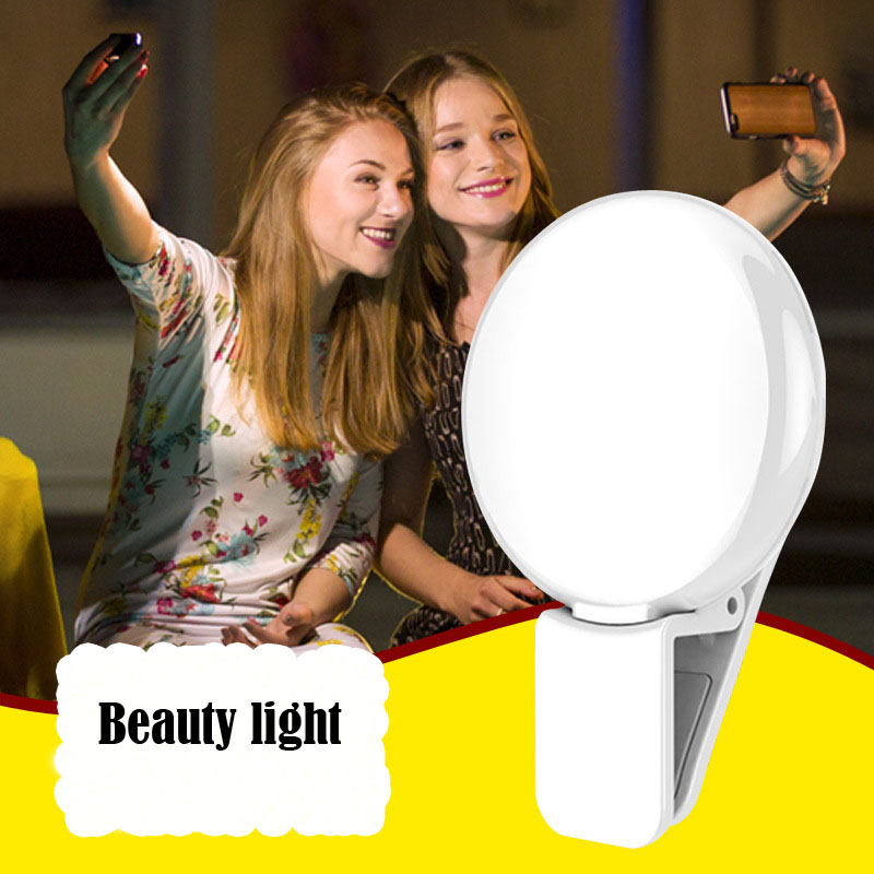 Mobile Phone LED Flash Smart Light Beauty Selfie Ring Flash Camera Fill light for iPhone Samsung S6 S7 Edge Sony HTC Smartphone(China (Mainland))