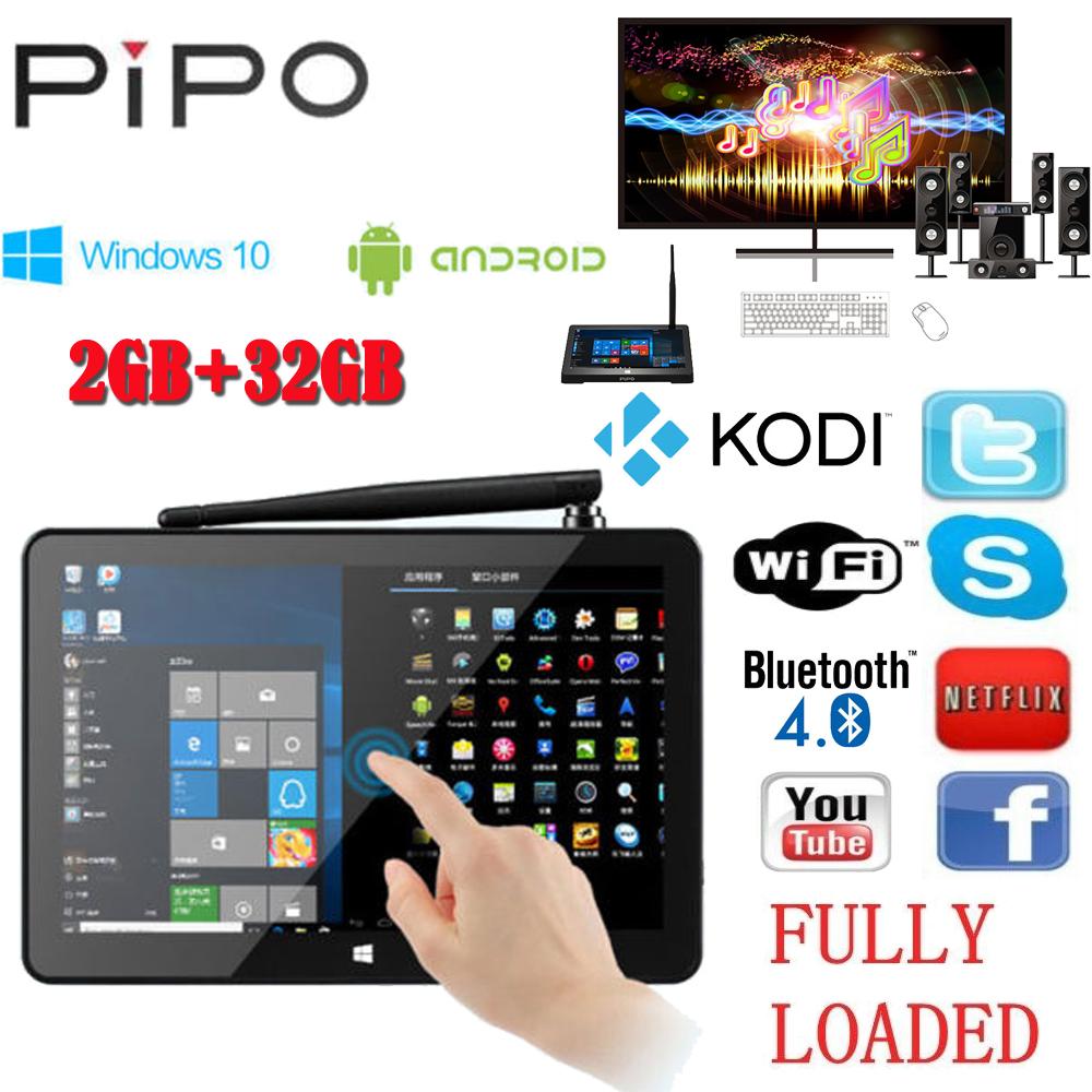 PIPO X9 8.9'' 1920x1200 Dual Boot Smart TV Box Mini PC Windows 10 Android 4.4 Intel Z3736F Quad Core 2.16GHz 2G+32G set-top box(China (Mainland))