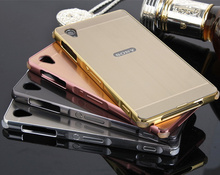 Buy Brushed Plating Metal Aluminum Bumper+PC 2 1 Case Cover Sony Xperia Z1/L39H C6903 C6902/L39H Z2/L50 L50W D6502 D6503 for $4.78 in AliExpress store