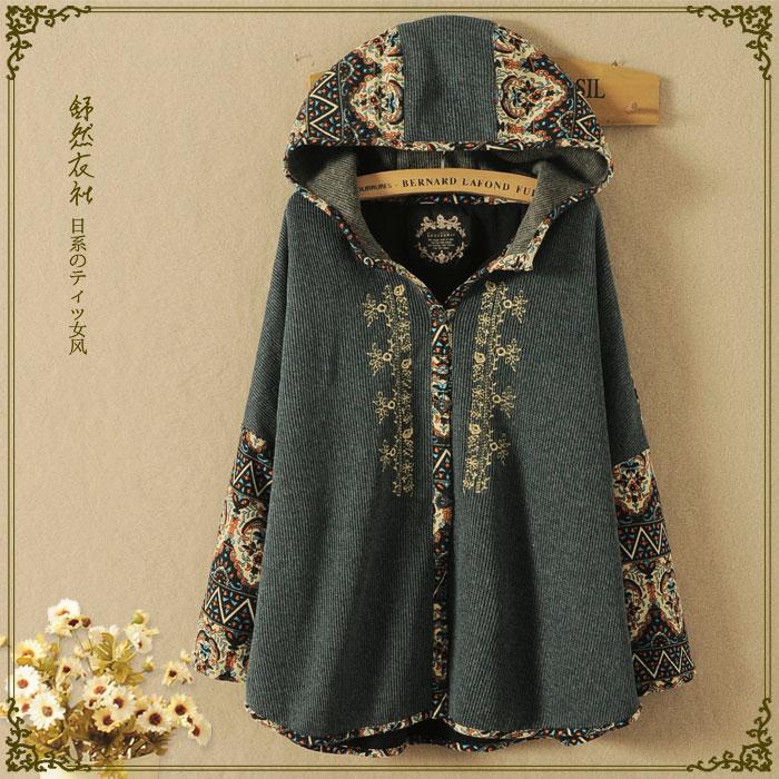 vintage style harajuku kawaii mori girl jacket gilet femme. Black Bedroom Furniture Sets. Home Design Ideas