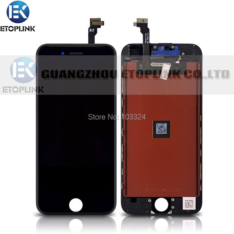 Test Passed LCD Digitizer + Touch Screen Display Replacement Assembly iPhone 6 6G 4.7 inch Black White - Guangzhou Etoplink Co., Ltd store
