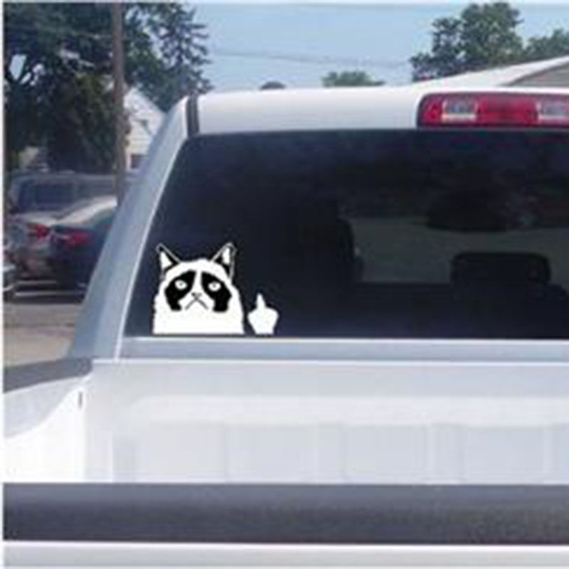 Grumpy Cat Flippin Off vinyl Car Laptop Graphics window Sticker Decal Decor Free Shipping