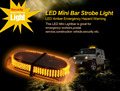 12v 240LED MAGNETIC EMERGENCY BAR RECOVERY WARNING STROBE LIGHT Beacon Amber