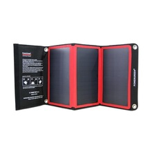 Solar Panel Kits PowerGreen 21 Watts Foldable Solar Power Bank USB Charger for LG for Samsung for Xiaomi