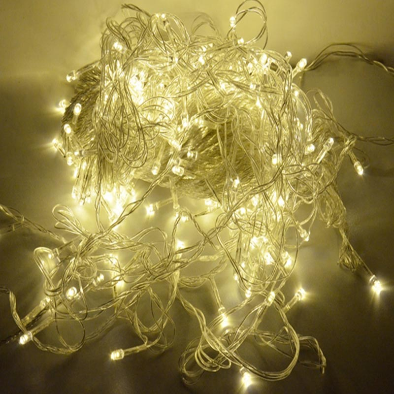 Warm white 50m 300 led string lights fairy christmas for White twinkle christmas lights