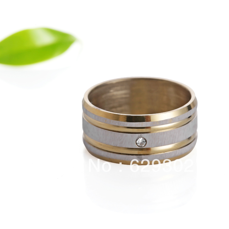 Wholesale 36pcs 10mm width mixed design stainless steel ring with stone for men job lots free shipping(China (Mainland))
