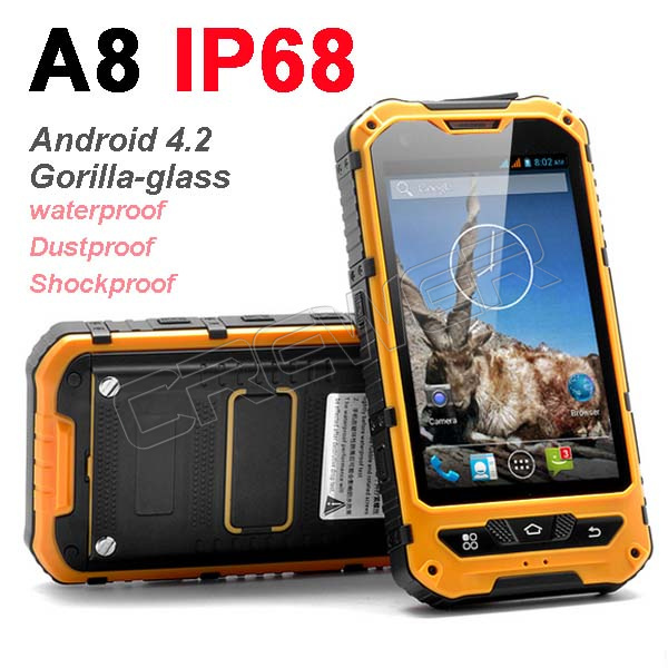 0riginal MTK6572 Dual Core Android 4.2 Gorilla Glass A8 IP68 Rugged Waterproof
