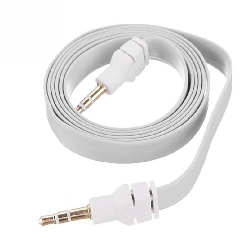 3.5mm audio cable right angle flat jack 3.5 mm aux cable for car iPhone MP3/4 headphone beats speaker aux cord(China (Mainland))