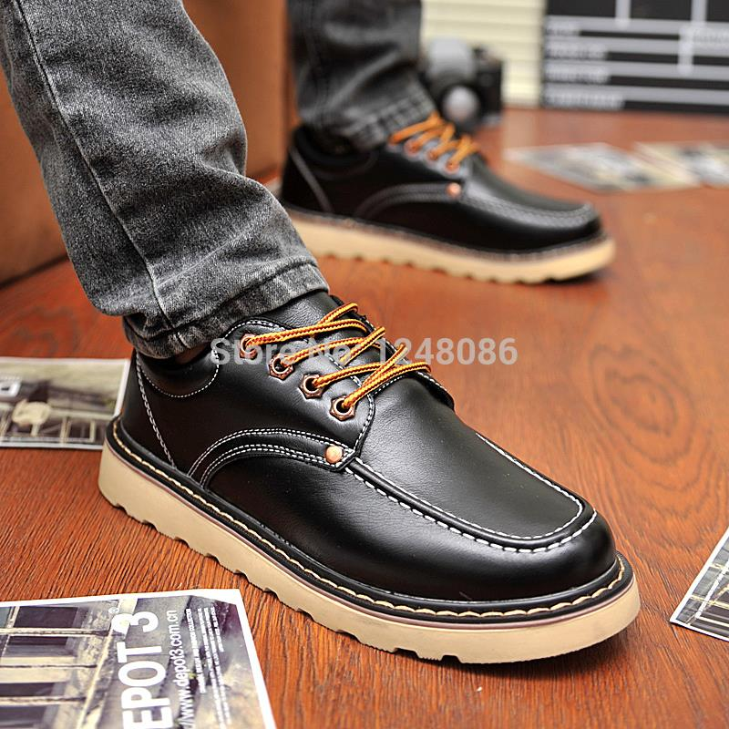 New 2014 Men boots casual Fashion sneakers High top quality ankle boots wholesale All Match Lace up brand men Shoes A094<br><br>Aliexpress