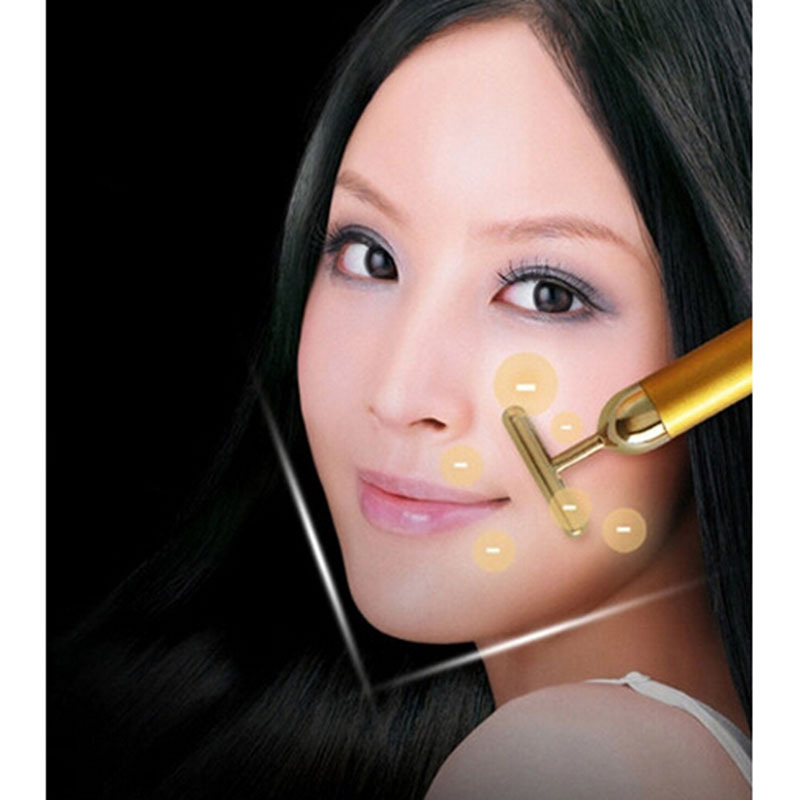 FANTASY Golden Electric massage thin face stick beauty equipment #FTHB2205(China (Mainland))