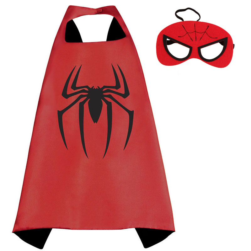 70cm 70cm super hero cape Costume black cape Superman Spiderman superhero capes for kid Birthday Party