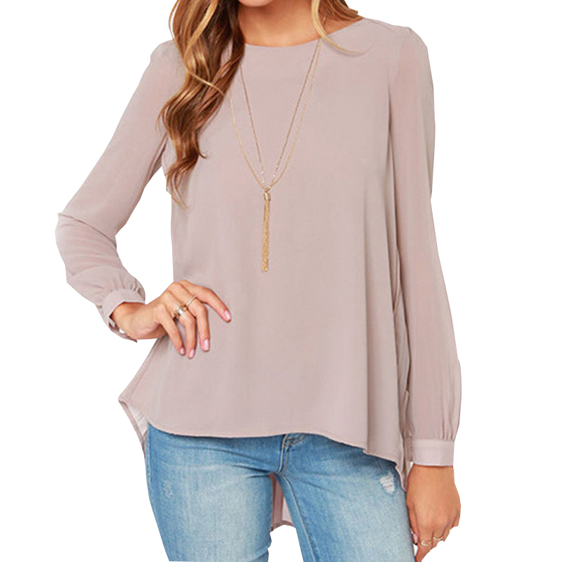 2015 New Arrive Ladies Office Shirts Women Clothing Vintage European Style Nude Long Sleeve Pleated Back Blouse Top E3512*60(China (Mainland))