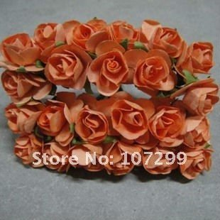 Free Shipping--New Arrival 1440pcs Orange Handmade Mini Paper Flower for Wedding Invitation Card Scrapbook Card Making DIY Craft(China (Mainland))