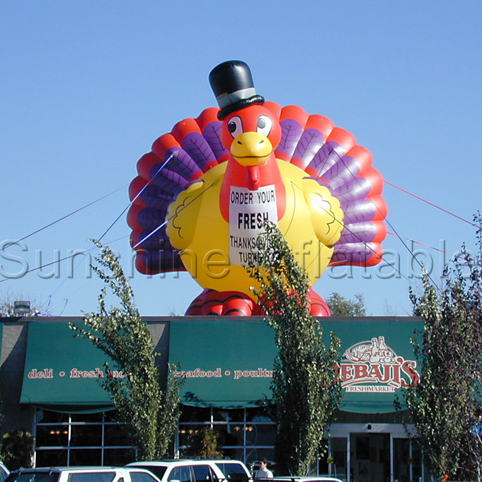 Giant Inflatable Turkey decoration for Thanksgiving holidays(China (Mainland))