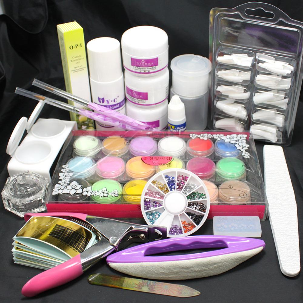 Nails kit beautify themselves with sweet nails liquid french diy nail art tips nail tips kit set 8023 in nail prinsesfo Images