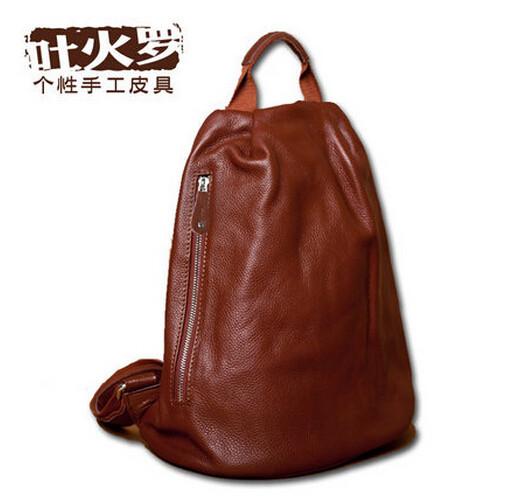 Brabd women bag Original handmade personalized leather shoulder bag backpack laptop genuine leather casual packet<br><br>Aliexpress